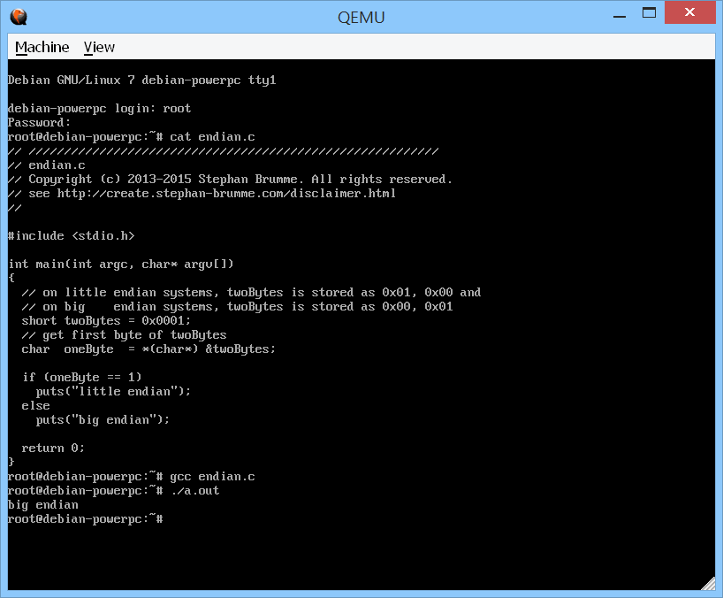 Testing Endian Aware Code